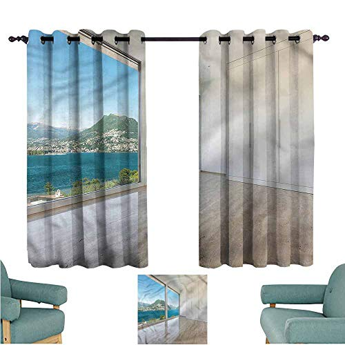 (Agoza Kids Curtains Modern Penthouse Interior View Great for Living Rooms & Bedrooms W72x63L)