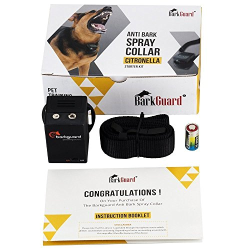 - Barkguard BT-88C Citronella Automatic Anti Bark Spray Stop Barking Dog Training Collar - excludes Citronella Spray