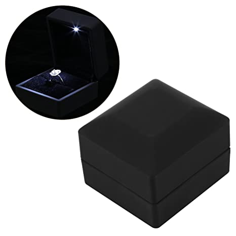 Estuche para anillo/colgante/pulsera/collar con luz LED – Caja de presentación de joyas