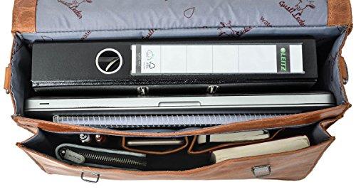"""borsa bicicletta portatile per 6"""" restistente internamente studio ''Philipp'' lavoro documenti da 15 unisex 2B15 marrone da 1wp elegante 20 all'acqua college Gusti Leder qYtwFpw"""