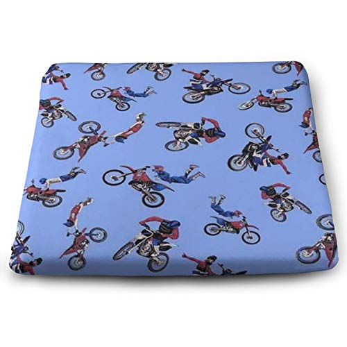 (Dikytoo Motocross Dirt Bike Antipill Fleece Coccyx Seat Cushion   Back Support, Tailbone and Sciatica Pain Relief, Washable Cover.)
