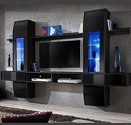 muebles bonitos - Mueble de salón Modelo Nilson Color Negro ...