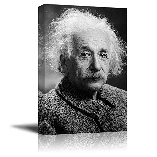 Albert Einstein Photograph (Portrait of Albert Einstein - Inspirational Famous People Series | Giclee Print Canvas Wall Art. Ready to Hang -)