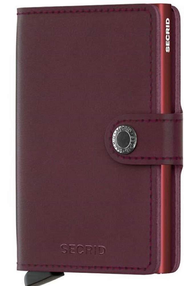 Secrid - Men Mini Wallet Genuine Original Leather RFID Safe Card Case for max 12 Cards (Bordeaux)
