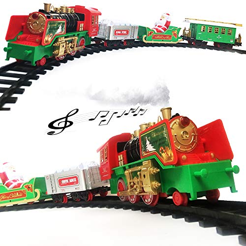 North Pole Santa's Express Musical Electric Train Model Toys Railway Set