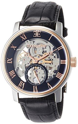 Thomas Earnshaw ES-8041-04 Mens Westminster Black Croco Leather Strap Watch