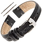 Gilden Ladies Light-Pad Double-Stitch Watch Band LPDS60XL-0112 (12 Millimeter end Width, Extra Long, Black)