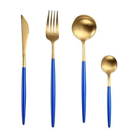 SDBPWARE cuberteria Tenedores Cuchillos Cucharas Juego de ...