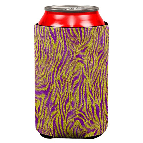 Mardi Gras Cajun Tiger Costume All Over Can Cooler Multi Standard One - Camp Carnival Shirts
