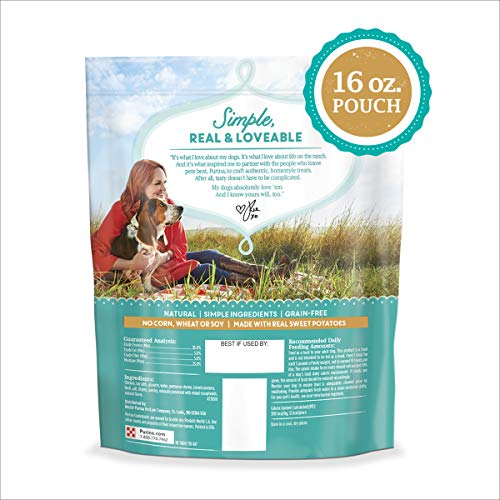 The Pioneer Woman Made in USA Facilities, Grain Free, Natural Dog Treats, Chicken Tots Recipe Bites - 16 oz. Pouch, 00038100185044