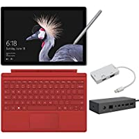 2017 New Surface Pro Bundle ( 5 Items): Core i7 16GB 1TB Tablet, Surface Dock, Surface Pro 4 Type Cover Red, New Surface Pen Platinum, Mini DisplayPort Adaptor