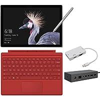 2017 New Surface Pro Bundle ( 5 Items): Core i7 16GB 1TB Tablet, Surface Dock, Surface Pro 4 Type Cover Red, New Surface Pen Platinum, Mini DisplayPort Adaptor
