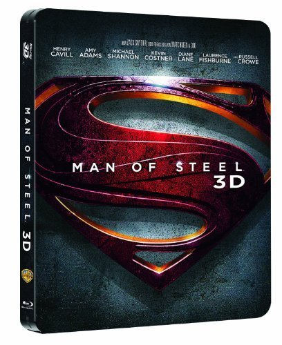 Man of Steel 3D Steelbook [German Exclusive, English Language] [3D Blu-ray] [Limited Edition][Region (Movie Man Of Steel)