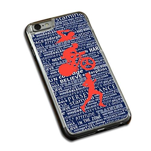 Swim Bike Run Inspiration Male iPhone 6/6S Case | Triathlon Phone Cases by ChalkTalkSPORTS | Blue Orange