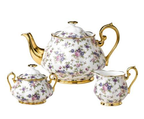 Chintz Patterns China (Royal Albert 100 Years of Royal Albert Tea Set, English Chintz, 3-Piece)