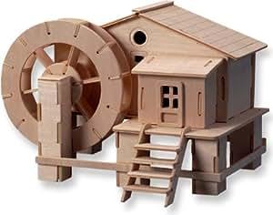 rompecabezas de madera tridimensional - molino de agua