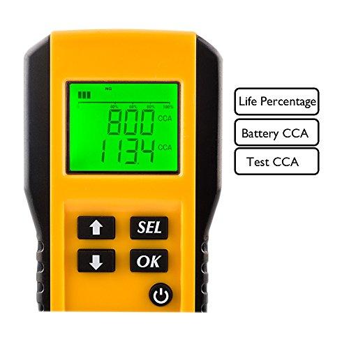 digital 12v car battery tester automotive battery load tester and analyzer of battery life. Black Bedroom Furniture Sets. Home Design Ideas