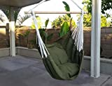 Hammock Chair Hanging Rope Chair Porch Swing Outdoor Chairs Lounge Camp Seat At Patio Lawn Garden Backyard Yard Green