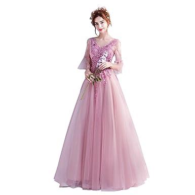 0c910bffd330d 姫系 カラードレス 演奏会 袖あり 安い 花嫁ドレス ロング ウエディングドレス 二次会 パーティー
