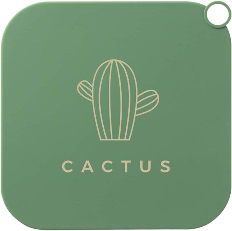 Cactus Verde 20x20x0.2cm Qiekenao Cubierta de drenaje de silicona para suelos de desag/üe y desag/üe de alcantarillado cubierta cuadrada para fregadero de cocina