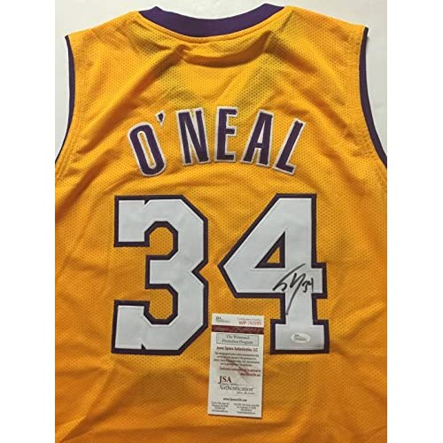 finest selection 9e04b 34794 Autographed/Signed Shaquille Shaq O'Neal Los Angeles Lakers ...