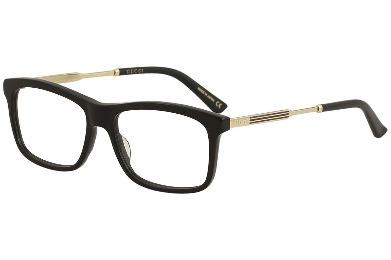 5d63df5b39c7 Amazon.com: Eyeglasses Gucci GG 0302 O- 001 BLACK/GOLD: Clothing