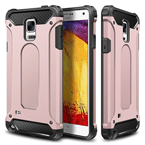 Tough Hybrid Dual Layer Case for Samsung Galaxy Note 4 (Rose Gold) - 9