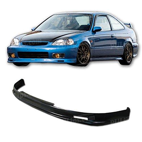 PULIps HDCV990MUFAD - M-Spec Style Front Bumper Lip For Honda Civic 1999-2000 - Mugen Style Front Lip