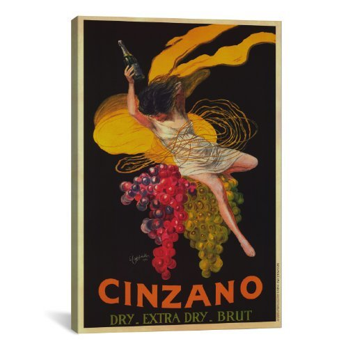 Cappiello Canvas Print - iCanvasART Asti Cinzano Vintage by Leonetto Cappiello Canvas Art Print, 26 by 18-Inch