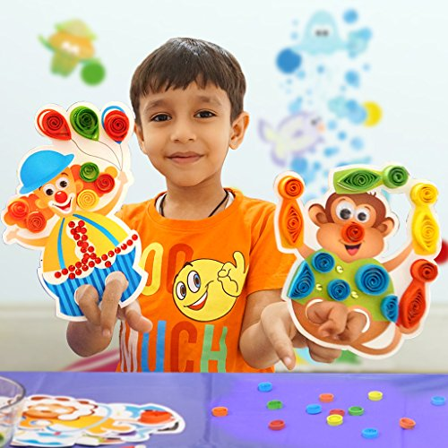 Circus Puppets- Make and Play with Hand and Finger Puppets- Ready Paper Coils to Decorate The Puppets- Fun Craft Kit and Toy for 3 Years and Above Boys and Girls- Excellent Birthday Activity and Gift ()
