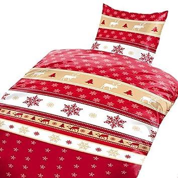 2tlg Winter Bettwäsche Microfaser Flausch Fleece Bettbezug 135x200