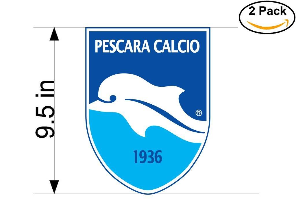 Pescara Calcio Italy Soccer Football Club FC 2 Stickers Car Bumper Window Sticker Decal Huge 9.5 inches
