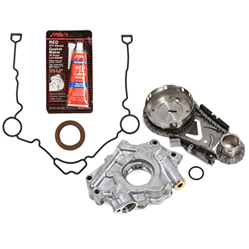 Evergreen TKTCS5057OP Fits 03-08 Chrysler Dodge Jeep 5.7 OHV 16V Hemi Timing Chain Kit Oil Pump Timing Cover Gasket ()