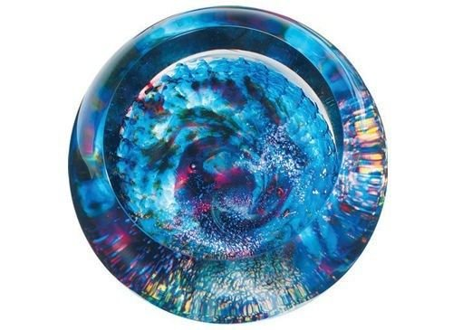 Glass Eye Studio 502F Milky Way Crystal Orb Made with Ash from Mt. St. Helens