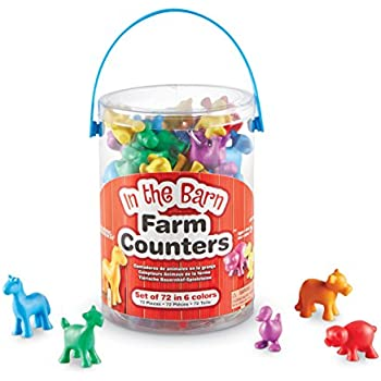 Learning Resources In the Barn Farm Counters, Set of 72