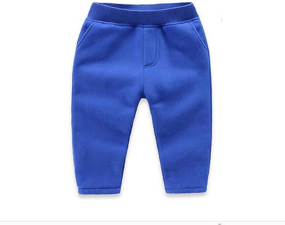 JZLPIN Unisex Toddler Pants Kids Cotton Elastic Waist Winter Baby Trousers