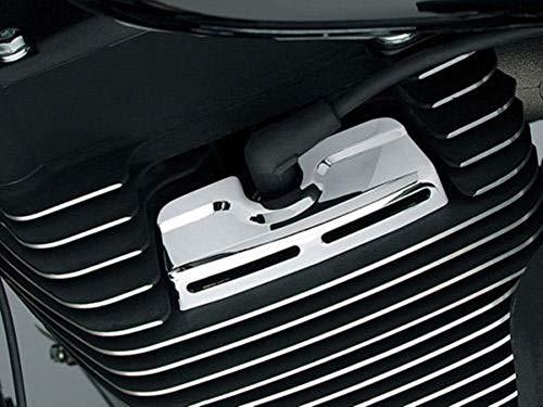 AUFER Chrome Scorpion Spark Plug Head Bolt Covers for 1999-2017 Harley Twin Cam