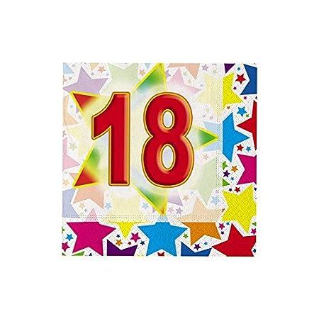 20 SERVILLETAS BUEN CUMPLEAÑOS 18 AÑOS: Amazon.es: Hogar
