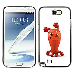 Shell-Star Art & Design plastique dur Coque de protection rigide pour Cas Case pour SAMSUNG Galaxy Note 2 II / N7100 ( Sad Red 3D Figurine Bubble Cartoon Character )