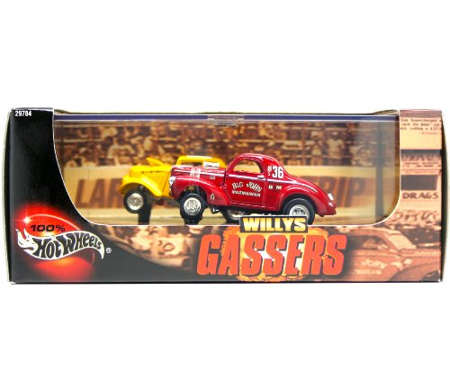 '41 & Jack Coonrod's '33 A/GS WILLYS * Limited Edition * Hot Wheels 2000 WILLYS GASSERS 1:64 Scale 2-Car Custom Vehicle Box Set ()