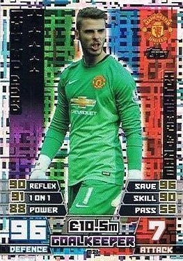 aba0fadf2 Image Unavailable. Image not available for. Colour  Match Attax Extra 2014 2015  David De Gea (Manchester United) ...