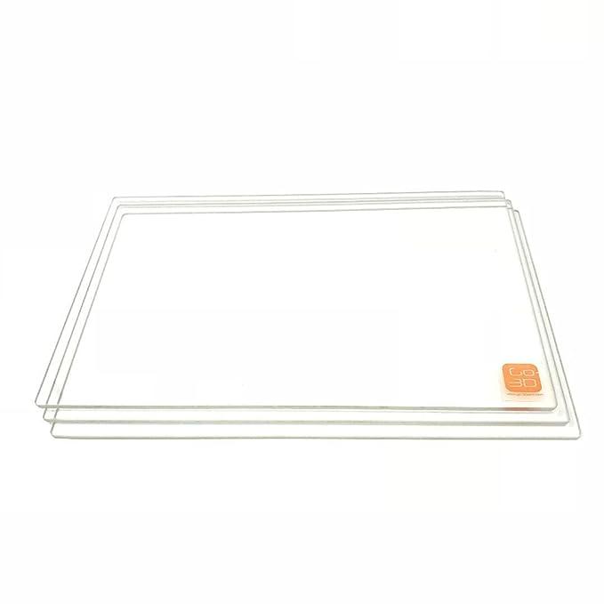 GO-3D PRINT 150 mm x 230 mm placa de vidrio de borosilicato/cama ...