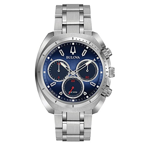 Bulova Men's Curv Collection' Quartz Stainless Steel Casual Watch, Color:Silver-Toned (Model: ()
