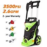 Homdox 3500 PSI Electric Pressure Washer, 2.60 GPM 1800W Professional Power Washer