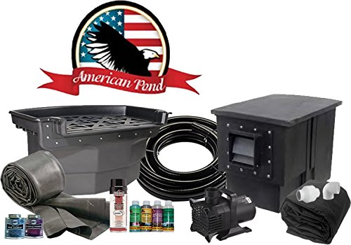 Pond Kit American (American Pond Titan 21' x 21' Pond Kit Professional Series Energy Saving)