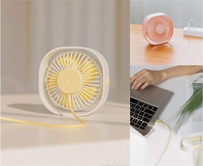 CAOQAO - Ventilador USB de 360 Grados, Regulable, portátil ...