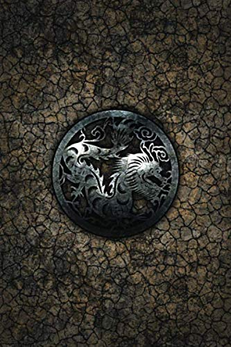 Monogram Dragon Journal: Blank Notebook Diary Log (Monogram Earth 365 Lined)