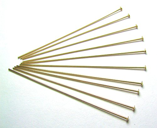 14k Gold Filled Head Pins (50 ea 14k GOLD FILLED HEAD PINS 24 ga 2