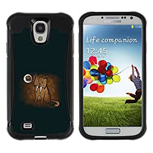 Be-Star único patrón Impacto Shock - Absorción y Anti-Arañazos Funda Carcasa Case Bumper Para SAMSUNG Galaxy S4 IV / i9500 / i9515 / i9505G / SGH-i337 ( Funny Cougar Dream )