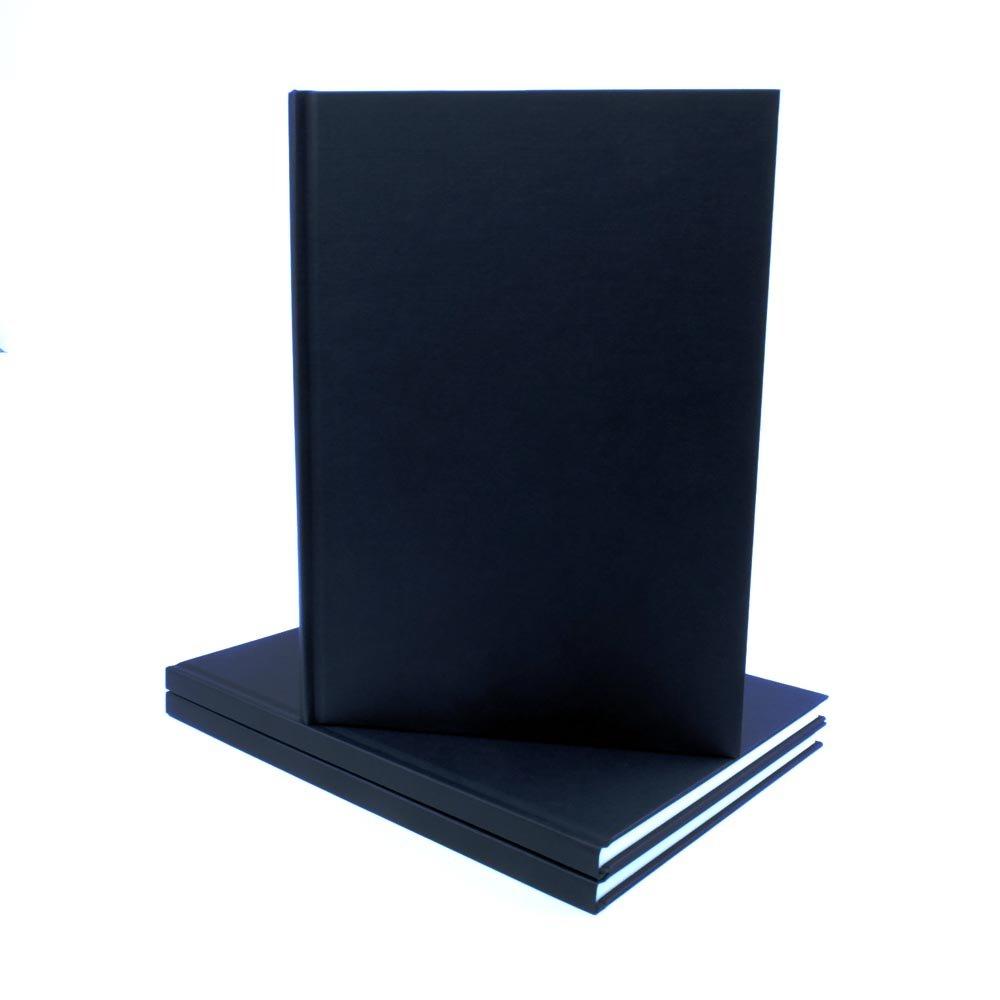 140 g//m/² Album da Disegno Formato A4 con Copertina in Tessuto Nero Seawhite
